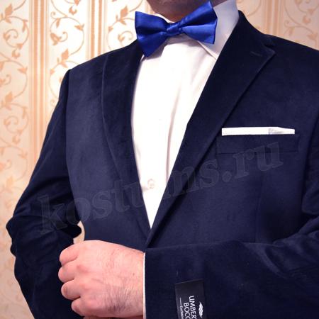 203a1d715aed Деловой мужской пиджак велюровый тёмно-синий
