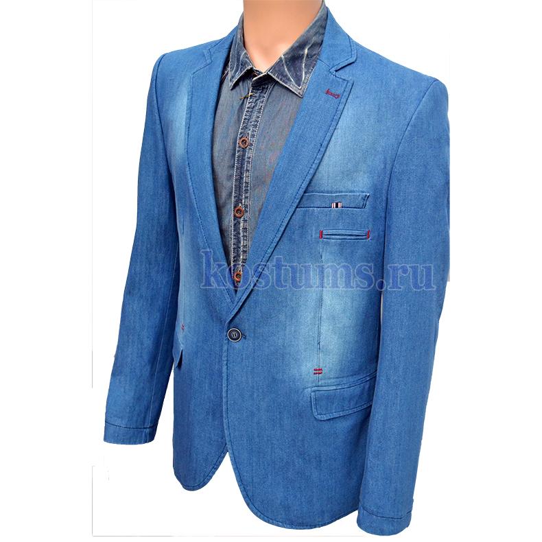 0bd1a9f2f016b9f Мужской джинсовый пиджак синий