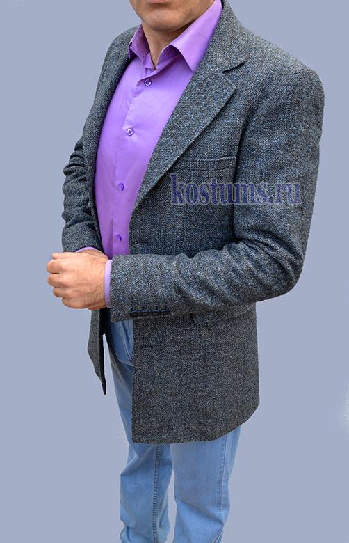 Стильное лёгкое молодёжное короткое полупальто, слегка приталенное, основной цвет серый