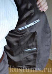 Подкладка вельветового мужского костюмы из натурального хлопка и шёлка